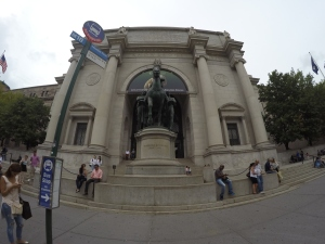 A fachada do Museu. Cadê o Ben Stiller?